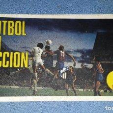 Cromos de Fútbol: CROMO FUTBOL EN ACCION MIGUELI JUGADOR DEL MALAGA Y LAS PALMAS TRANSPLASTIC KALKITOS AÑO 1974. Lote 165519130