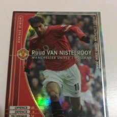 Cromos de Fútbol: CROMO CARD WCCF LIGA 2004-05 PANINI DE JAPÓN MANCHESTER UNITED VAN NISTELROOY WORLD STRIKER. Lote 226401250