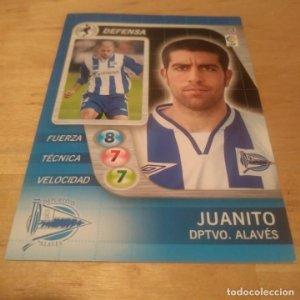 3 Juanito. Deportivo Alavés. Derby Total 2005 2006 05 06 LFP El gran juego de fútbol de Panini