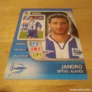 7 Jandro. Deportivo Alavés. Derby Total 2005 2006 05 06 LFP El gran juego de fútbol de Panini
