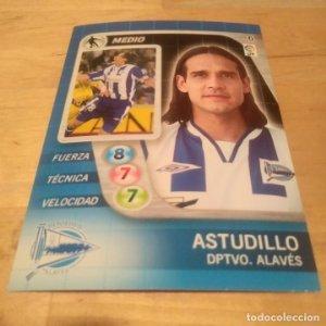 6 Astudillo. Deportivo Alavés. Derby Total 2005 2006 05 06 LFP El gran juego de fútbol de Panini