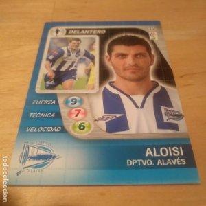 12 Aloisi. Deportivo Alavés. Derby Total 2005 2006 05 06 LFP El gran juego de fútbol de Panini
