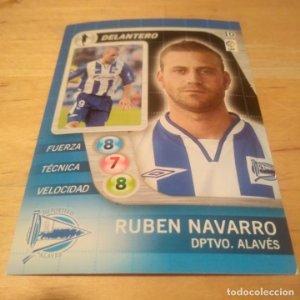 10 Ruben Navarro Deportivo Alavés. Derby Total 2005 2006 05 06 LFP El gran juego de fútbol de Panini