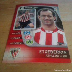 22 Etxeberria Athletic Club Bilbao Derby Total 2005 2006 05 06 LFP El gran juego de fútbol de Panini