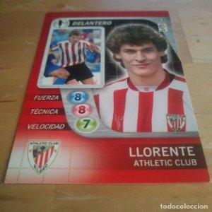 23 Llorente. Athletic Club Bilbao. Derby Total 2005 2006 05 06 LFP El gran juego de fútbol de Panini