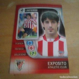 14 Exposito. Athletic Club Bilbao. Derby Total 2005 2006 05 06 LFP El gran juego de fútbol de Panini
