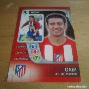31 Gaby. Atlético de Madrid. Derby Total 2005 2006 05 06 LFP El gran juego de fútbol de Panini