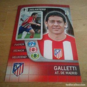 34 Galletti. Atlético de Madrid. Derby Total 2005 2006 05 06 LFP El gran juego de fútbol de Panini