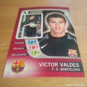 37 Victor Valdes. F.C. Barcelona. Derby Total 2005 2006 05 06 LFP El gran juego de fútbol de Panini