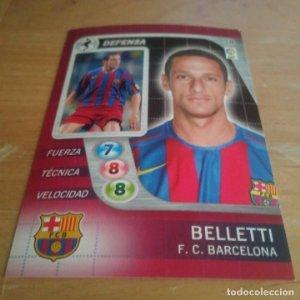 38 Belletti. F.C. Barcelona. Derby Total 2005 2006 05 06 LFP El gran juego de fútbol de Panini