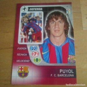 40 Puyol. F.C. Barcelona. Derby Total 2005 2006 05 06 LFP El gran juego de fútbol de Panini