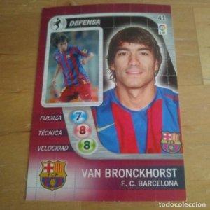 41 Van Bronckhorst F.C. Barcelona. Derby Total 2005 2006 05 06 LFP El gran juego de fútbol de Panini
