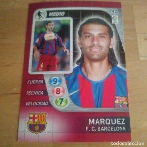 42 Marquez. F.C. Barcelona. Derby Total 2005 2006 05 06 LFP El gran juego de fútbol de Panini