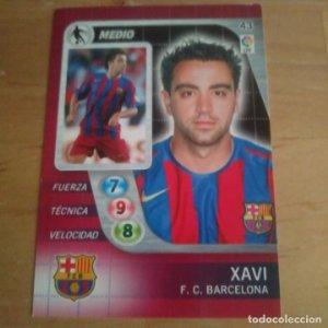 43 Xavi. F.C. Barcelona. Derby Total 2005 2006 05 06 LFP El gran juego de fútbol de Panini