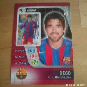44 Deco. F.C. Barcelona. Derby Total 2005 2006 05 06 LFP El gran juego de fútbol de Panini