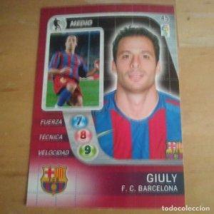 45 Giuly. F.C. Barcelona. Derby Total 2005 2006 05 06 LFP El gran juego de fútbol de Panini