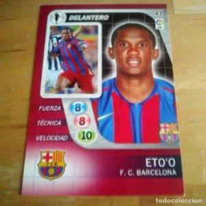 47 Eto'o. F.C. Barcelona. Derby Total 2005 2006 05 06 LFP El gran juego de fútbol de Panini