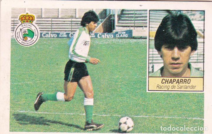 ESTE 84-85 - CHAPARRO - COLOCA DEL RACING - MUY DIFICIL - RECUPERADO - (Coleccionismo Deportivo - Álbumes y Cromos de Deportes - Cromos de Fútbol)