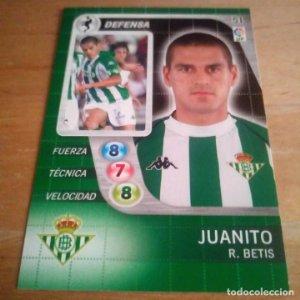51 Juanito. R. Betis. Derby Total 2005 2006 05 06 LFP El gran juego de fútbol de Panini