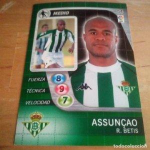 54 Assunçao. R. Betis. Derby Total 2005 2006 05 06 LFP El gran juego de fútbol de Panini