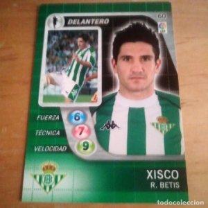 60 Xisco. R. Betis. Derby Total 2005 2006 05 06 LFP El gran juego de fútbol de Panini