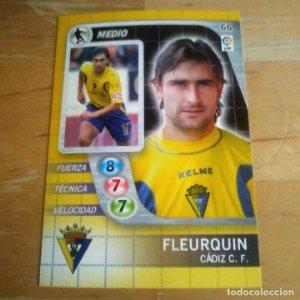 66 Fleurquin. Cádiz C.F. Derby Total 2005 2006 05 06 LFP El gran juego de fútbol de Panini