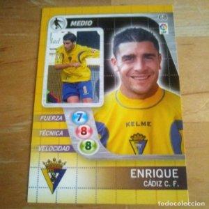 68 Enrique. Cádiz C.F. Derby Total 2005 2006 05 06 LFP El gran juego de fútbol de Panini