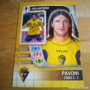 70 Pavoni. Cádiz C.F. Derby Total 2005 2006 05 06 LFP El gran juego de fútbol de Panini