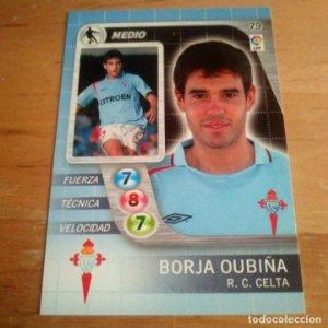 79 Borja Oubiña. R.C. Celta. Derby Total 2005 2006 05 06 LFP El gran juego de fútbol de Panini