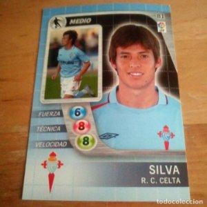 81 Silva. R.C. Celta. Derby Total 2005 2006 05 06 LFP El gran juego de fútbol de Panini