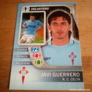 83 Javi Guerrero. R.C. Celta. Derby Total 2005 2006 05 06 LFP El gran juego de fútbol de Panini