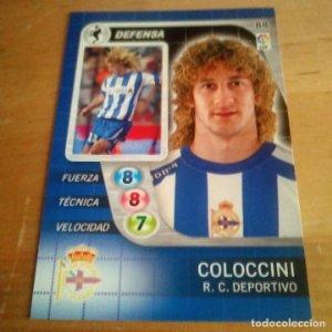88 Coloccini. R.C. Deportivo. Derby Total 2005 2006 05 06 LFP El gran juego de fútbol de Panini