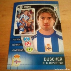 90 Duscher. R.C. Deportivo. Derby Total 2005 2006 05 06 LFP El gran juego de fútbol de Panini
