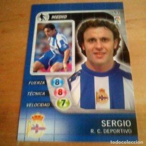 91 Sergio. R.C. Deportivo. Derby Total 2005 2006 05 06 LFP El gran juego de fútbol de Panini