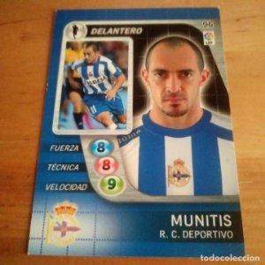 96 Munitis. R.C. Deportivo. Derby Total 2005 2006 05 06 LFP El gran juego de fútbol de Panini