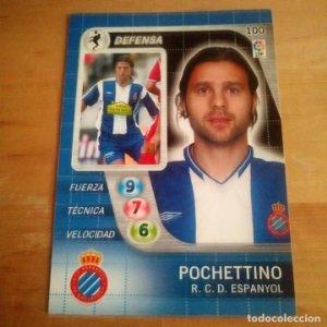 100 Poquettino. R.C. Espanyol. Derby Total 2005 2006 05 06 LFP El gran juego de fútbol de Panini