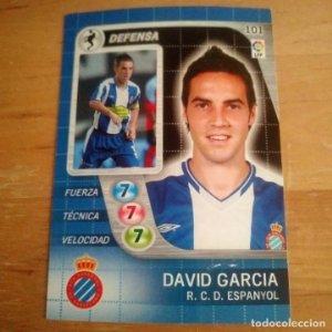 101 David García. R.C. Espanyol. Derby Total 2005 2006 05 06 LFP El gran juego de fútbol de Panini
