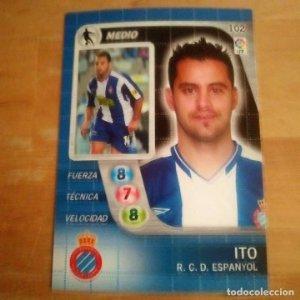 102 Ito. R.C. Espanyol. Derby Total 2005 2006 05 06 LFP El gran juego de fútbol de Panini