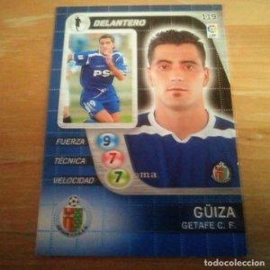119 Güiza. Getafe C.F. Derby Total 2005 2006 05 06 LFP El gran juego de fútbol de Panini