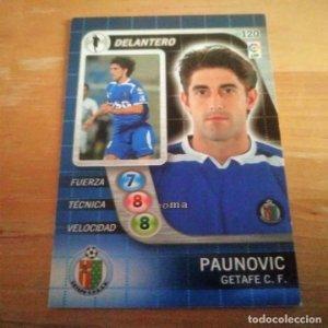120 Paunovic. Getafe C.F. Derby Total 2005 2006 05 06 LFP El gran juego de fútbol de Panini