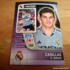 121 Casillas. Real Madrid. Derby Total 2005 2006 05 06 LFP El gran juego de fútbol de Panini