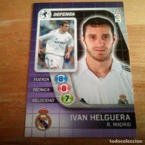 123 Ivan Helguera. Real Madrid. Derby Total 2005 2006 05 06 LFP El gran juego de fútbol de Panini
