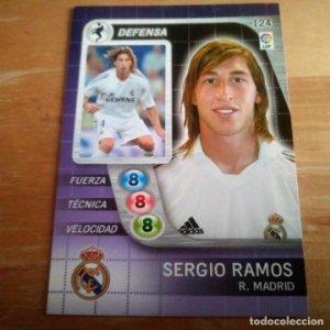 124 Sergio Ramos. Real Madrid. Derby Total 2005 2006 05 06 LFP El gran juego de fútbol de Panini
