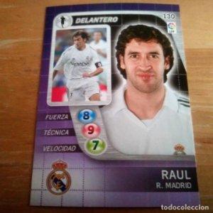 130 Raul. Real Madrid. Derby Total 2005 2006 05 06 LFP El gran juego de fútbol de Panini