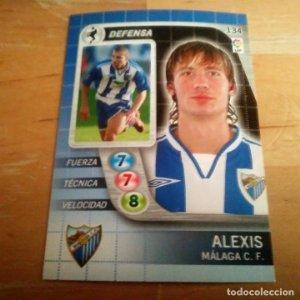 134 Alexis. Málaga C.F.. Derby Total 2005 2006 05 06 LFP El gran juego de fútbol de Panini