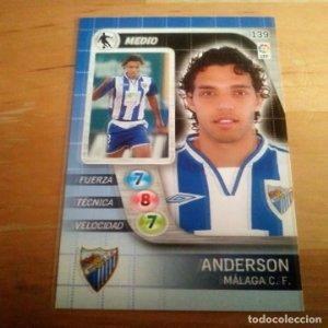 134 Anderson. Málaga C.F.. Derby Total 2005 2006 05 06 LFP El gran juego de fútbol de Panini