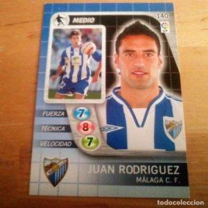 140 Juan Rodriguez. Málaga C.F.. Derby Total 2005 2006 05 06 LFP El gran juego de fútbol de Panini
