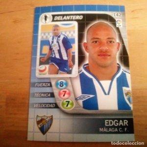 142 Edgar. Málaga C.F.. Derby Total 2005 2006 05 06 LFP El gran juego de fútbol de Panini