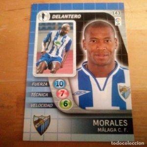 143 Morales. Málaga C.F.. Derby Total 2005 2006 05 06 LFP El gran juego de fútbol de Panini