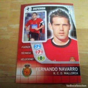 149 F. Navarro. R.C.D. Mallorca. Derby Total 2005 2006 05 06 LFP El gran juego de fútbol de Panini